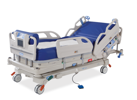 Drawing fluid hospital bed
