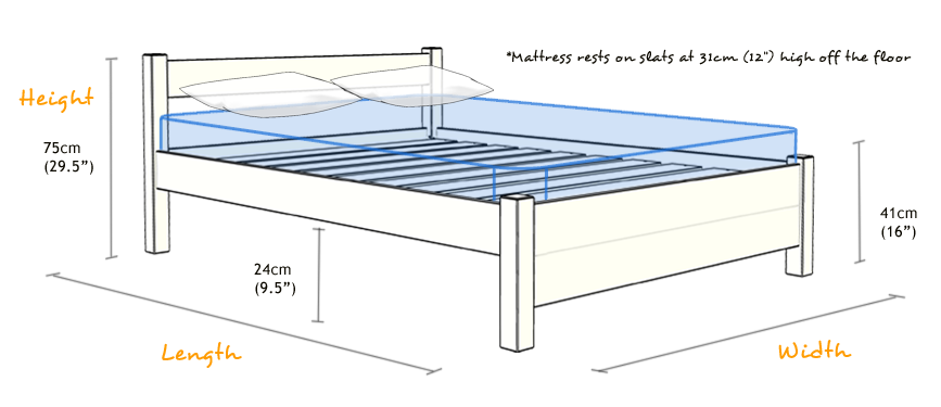 Drawing bed wooden. Image result for standard