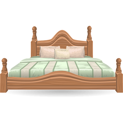 Drawing bed wooden. Clipart graphics illustrations free