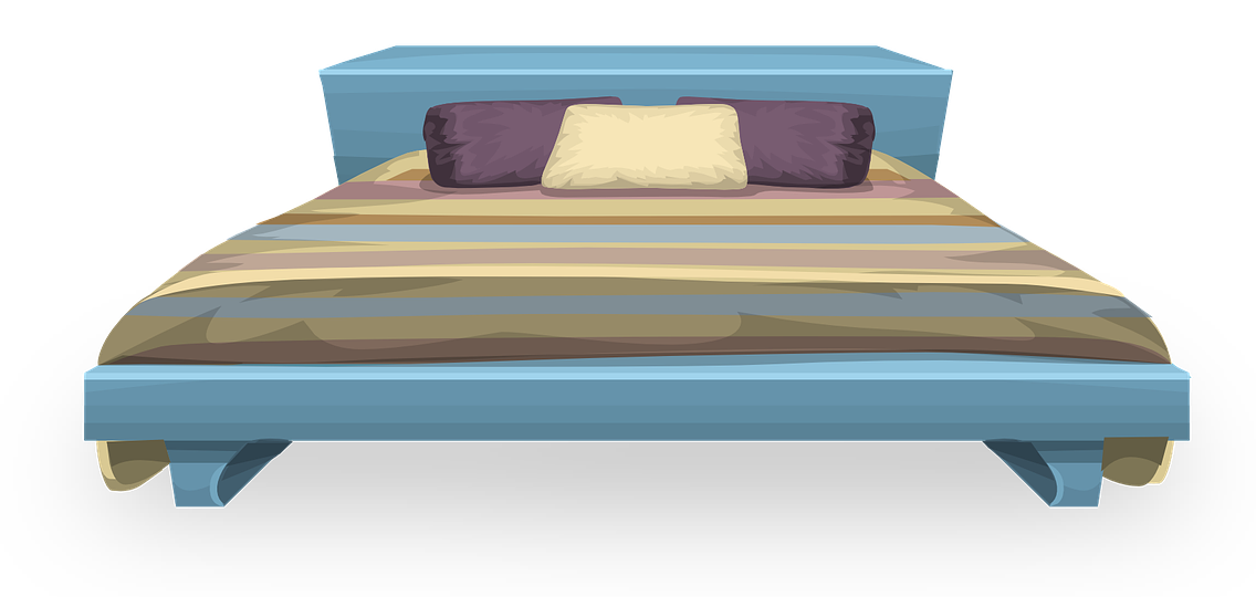 Drawing bedroom princess bed. Clipart of huge
