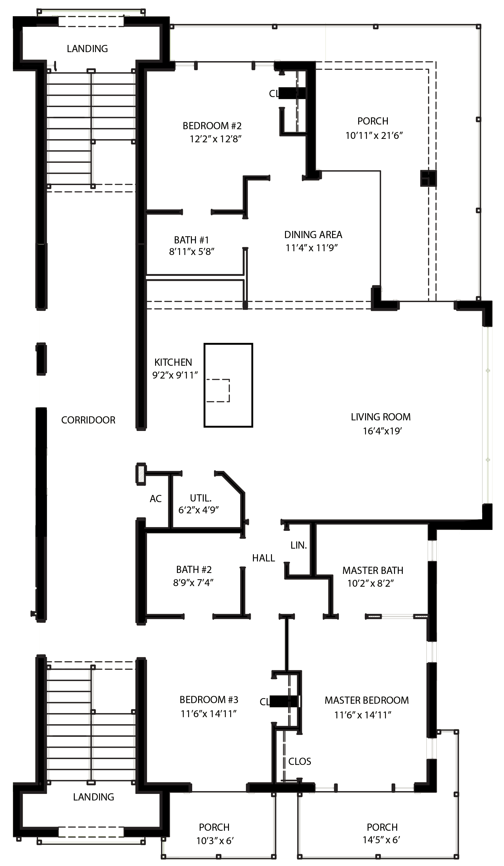 Drawing bedrooms two point. Floor plan february great