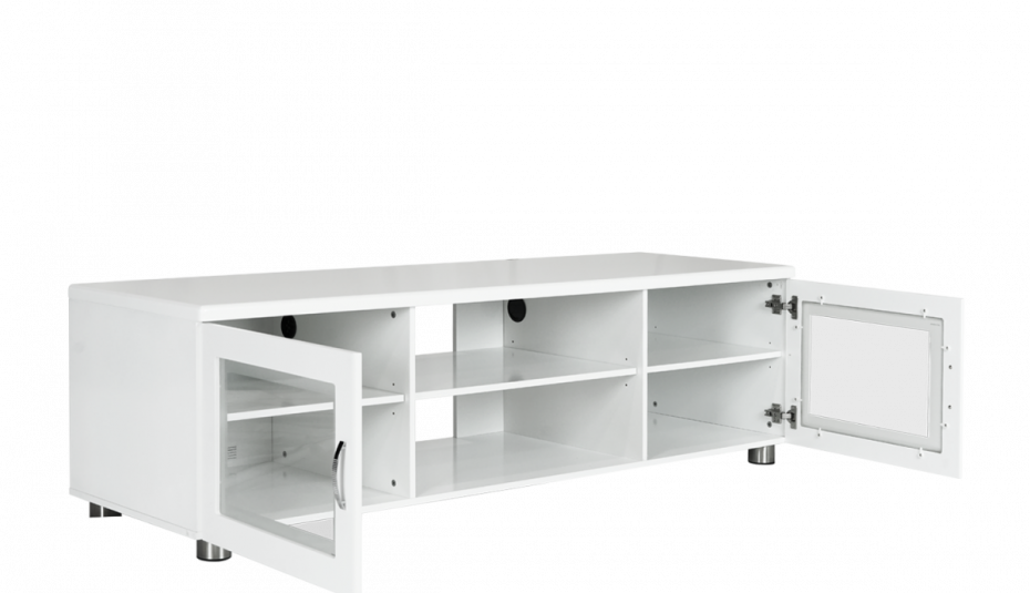 Drawing tv table. Modern room black style