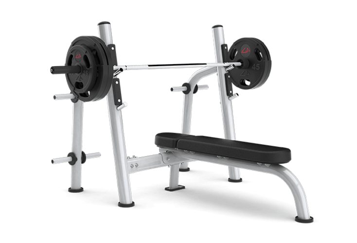 Weightlifter drawing gym equipment. Back extension bench benches