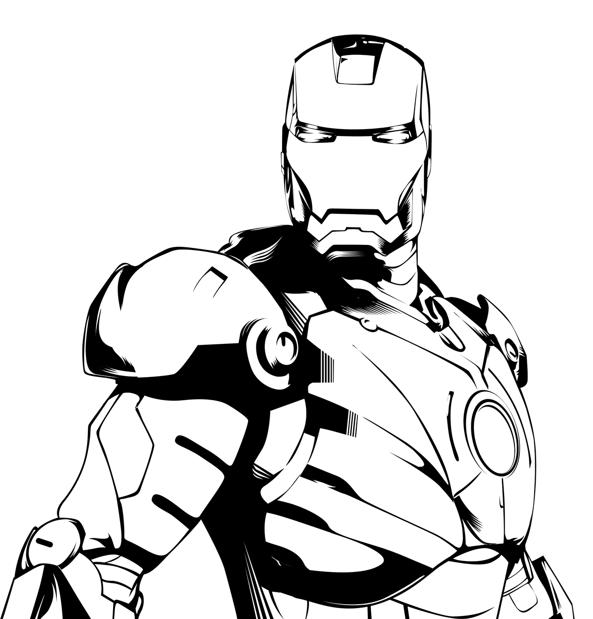 Drawing blind clipart black white. Man and graphic