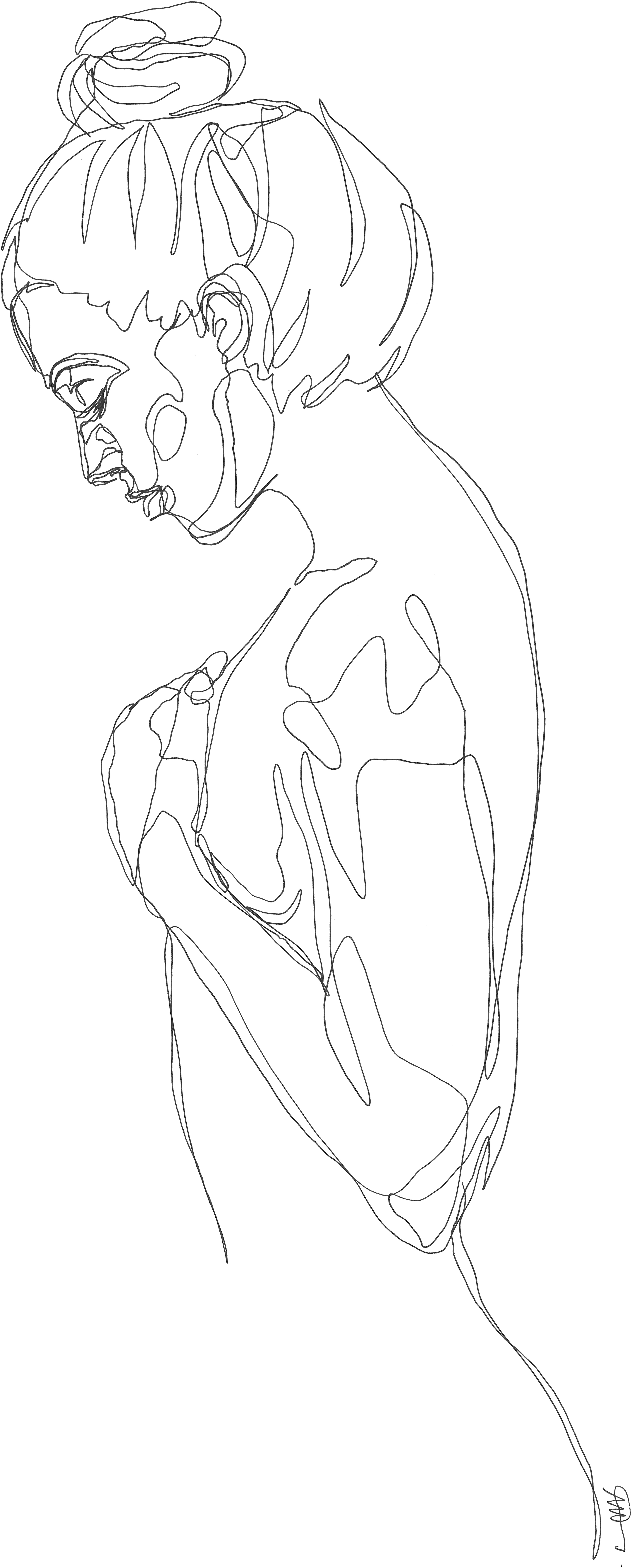 Drawing blind continuous line. Martin tardy body pinterest