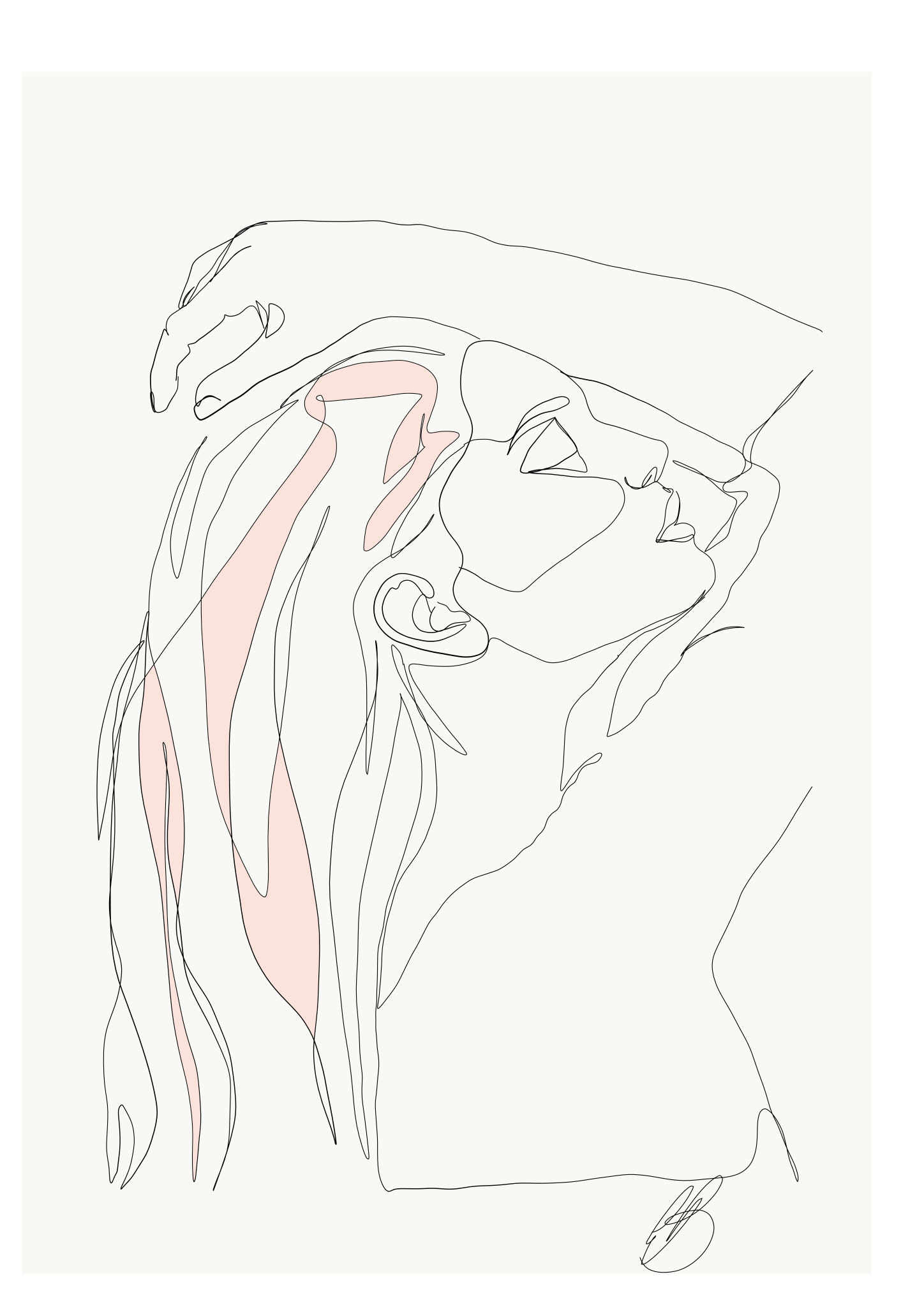 Portraits drawing profile. Emma ryan single line