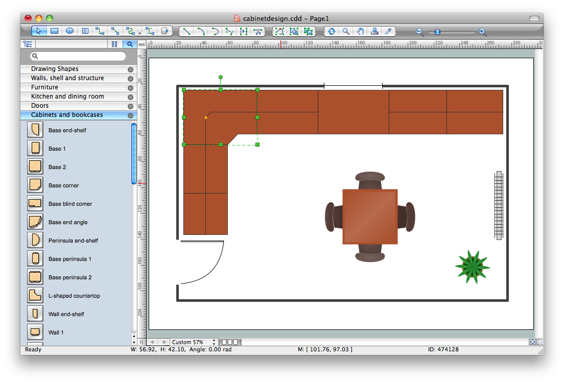 Drawing mac floor plan. Cabinet design software