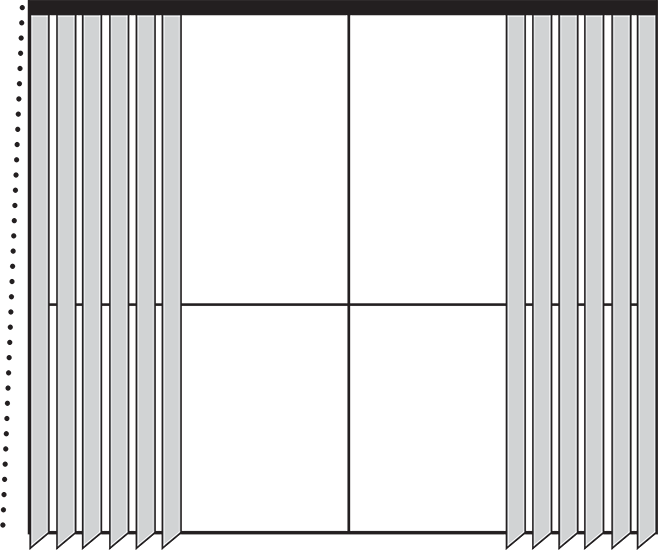 drawing blinds vertical