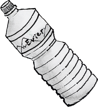 Drawing bottles perspective. Water bottle at getdrawings
