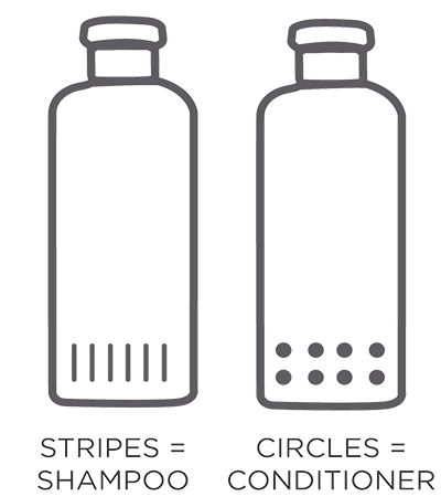 Drawing bottles shampoo. Why inclusive bottle design