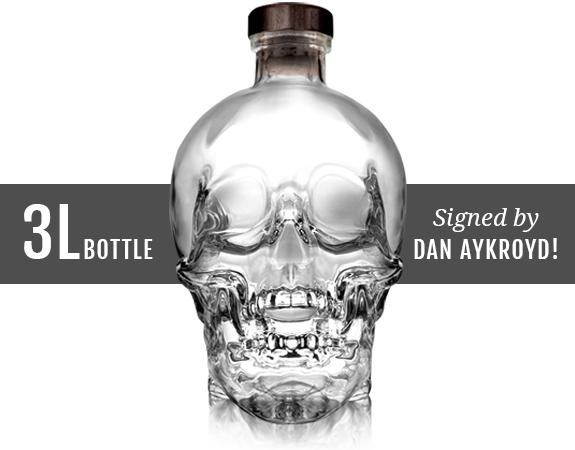 Drawing bottles vodka bottle. Crystal head prize draw