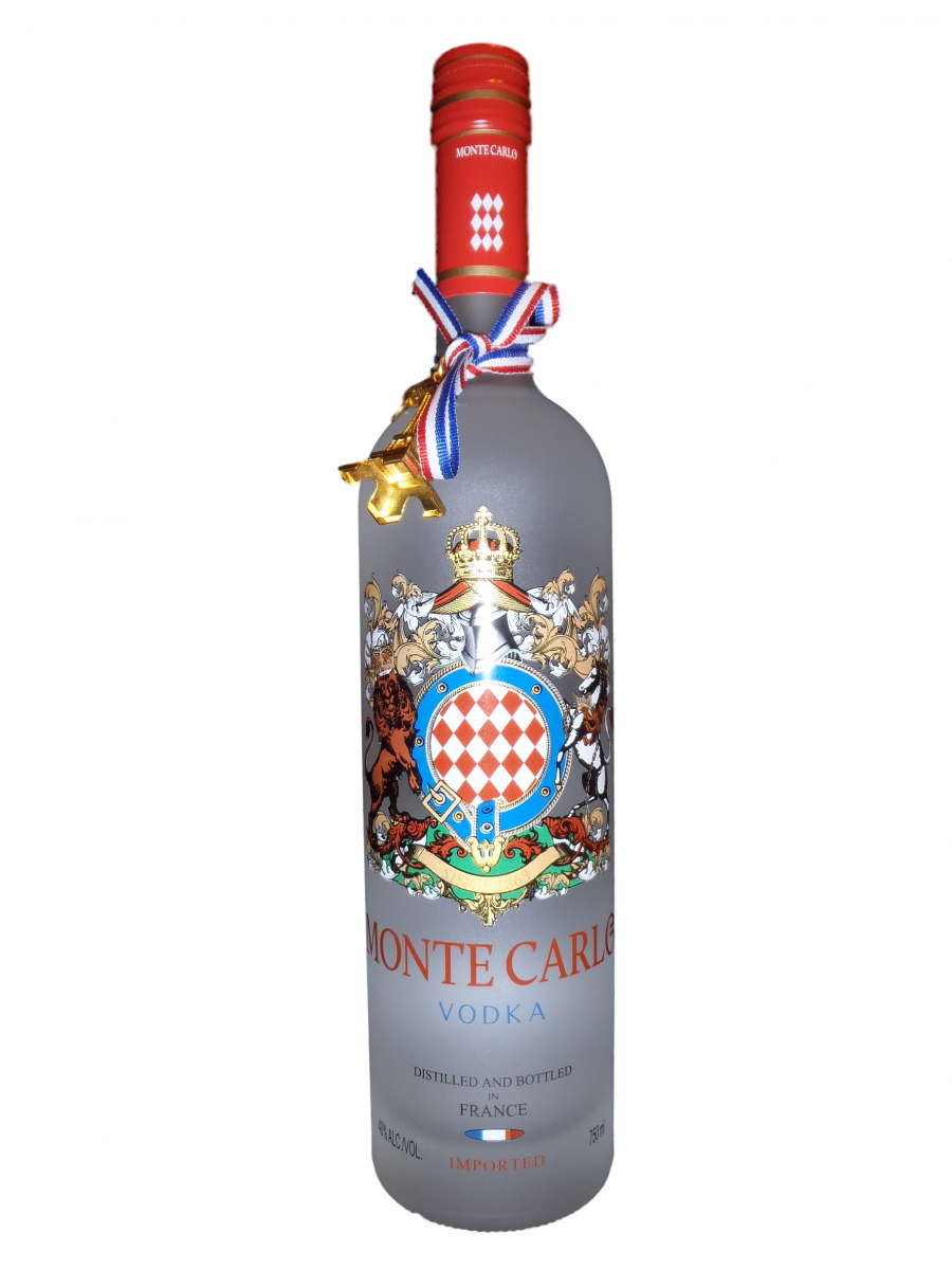 Drawing bottles vodka bottle. Monte carlo pd wodka
