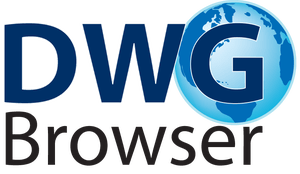 Drawing browser dwg. Gray technical cad logo