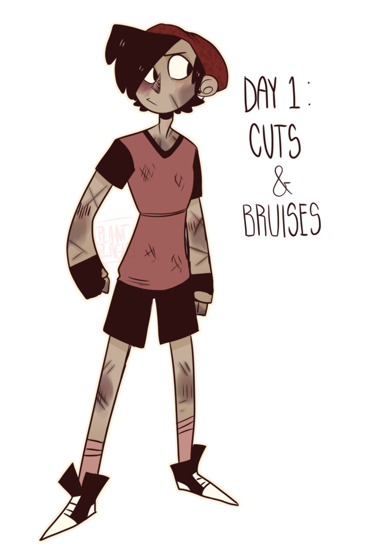 Drawing bruises. Goretober advent cuts and