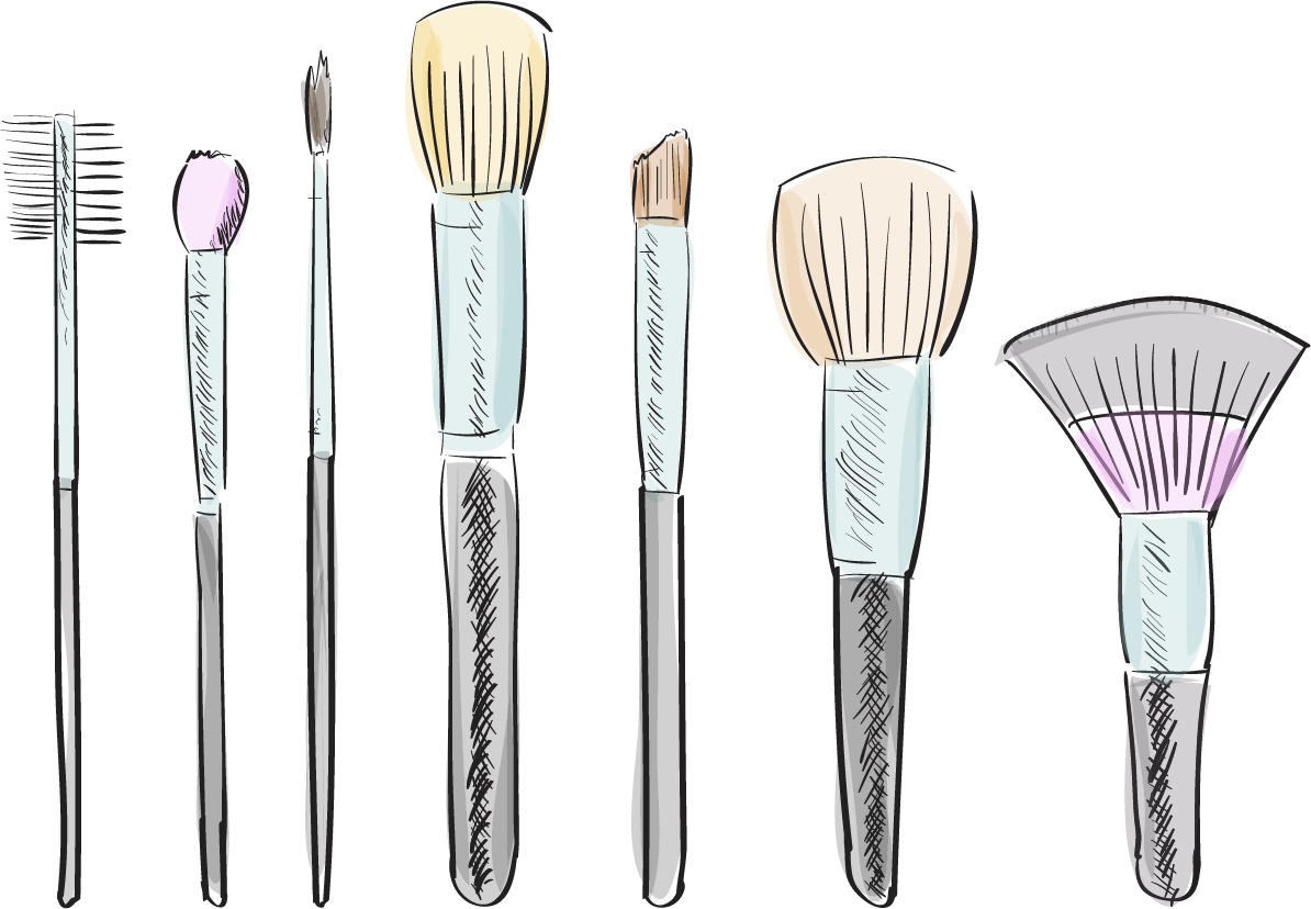 Drawing transparent makeup. Brushes at getdrawings com