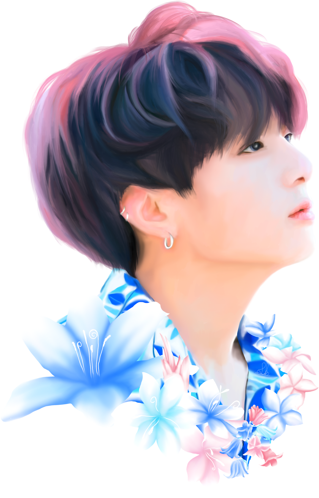 Transparent jungkook blue. Download hd flynns drawings