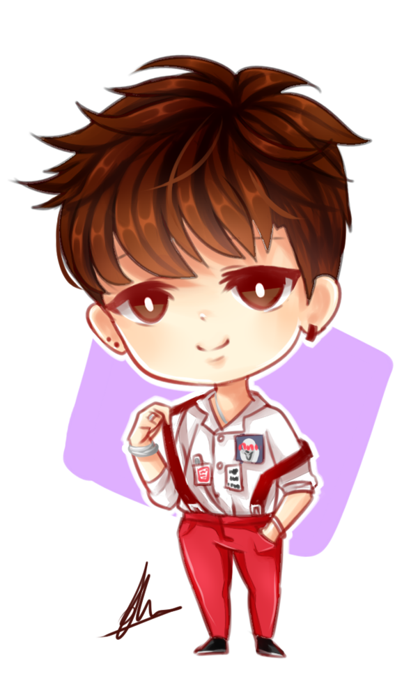 Drawing bts. Jimin chibi by xaevlyn
