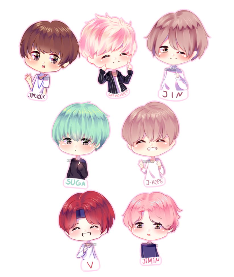 Drawing bts adorable. By haru cchii on