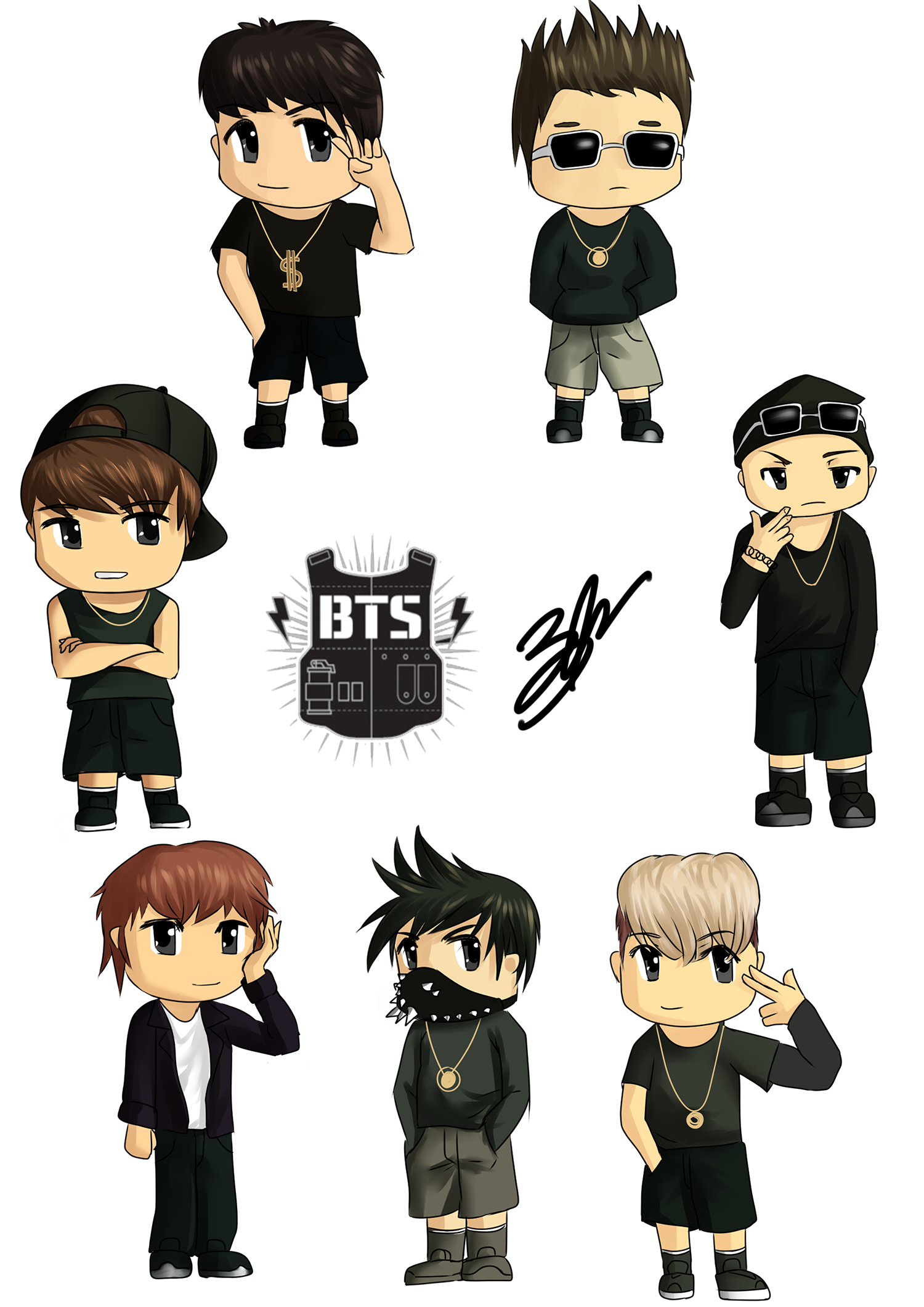 Drawing bts cartoon. Collection of jin