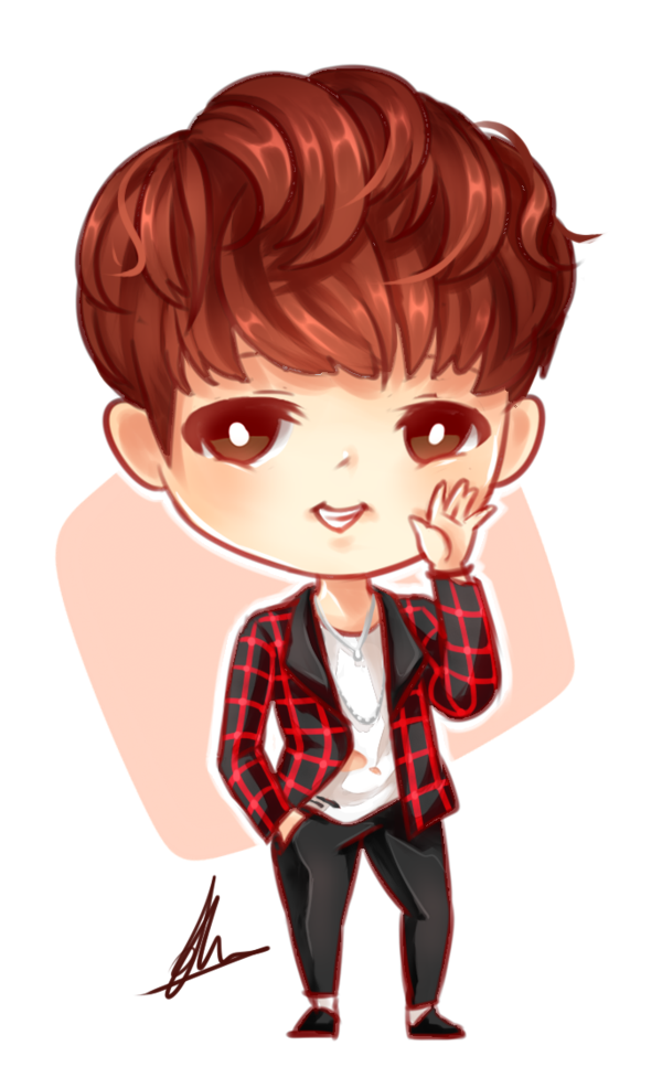 Drawing bts chibi. Fanart of rapmon from