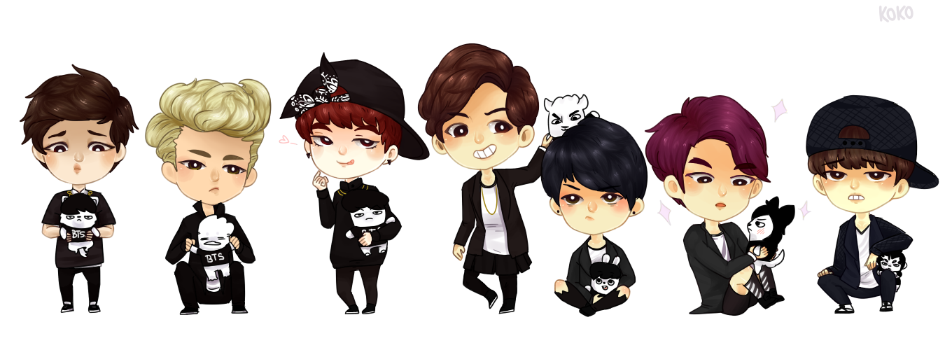 Drawing bts cute. Danger by sehuun on