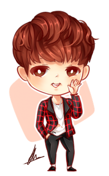 Drawing bts jhope. Jungkook chibi by xaevlyn