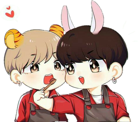 Drawing bts kawaii. Kookv vkook taekook cute