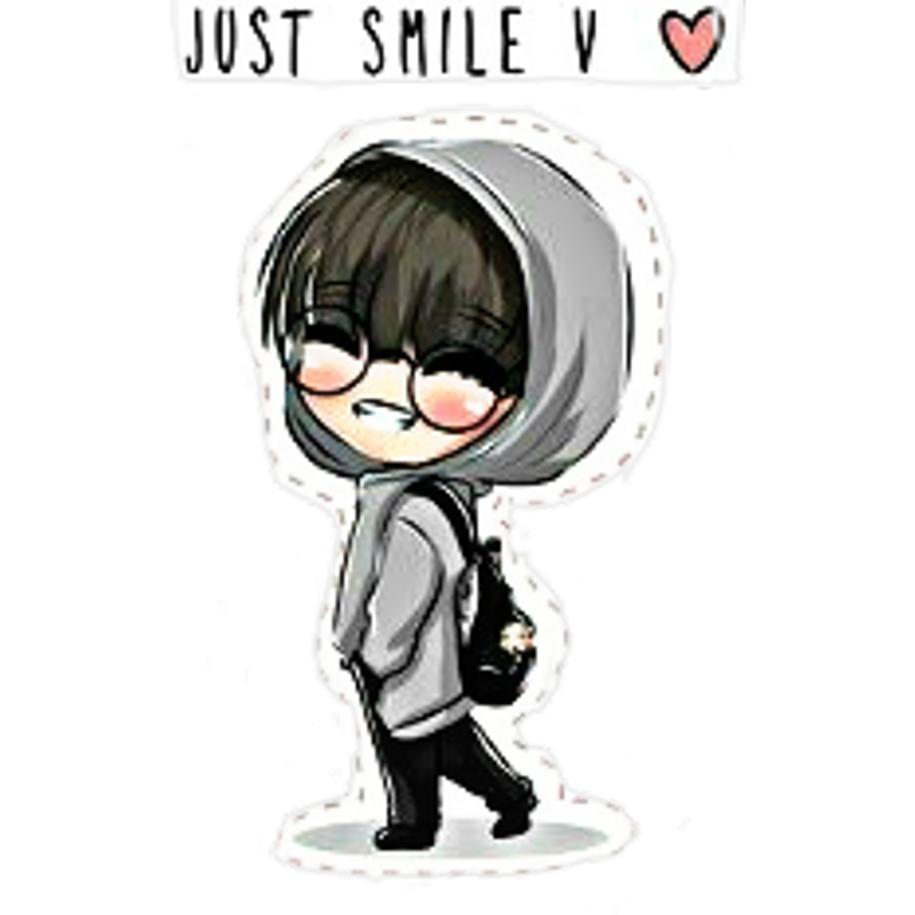 Drawing bts kawaii. Armygirl edit tierno sticker