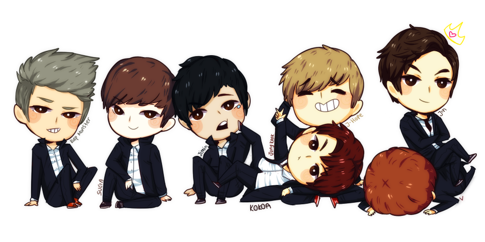 Drawing bts kpop. Collection of cartoon