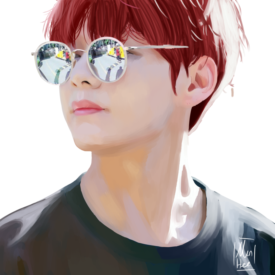 Drawing bts realistic. Painting of kim taeyhung