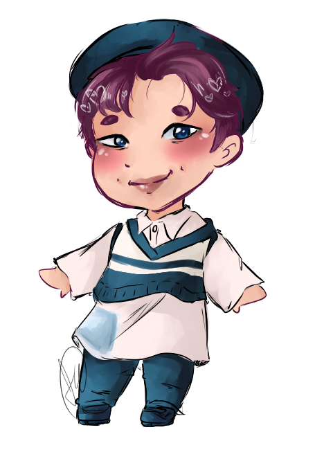 Drawing bts chibi. Rap monster tumblr i