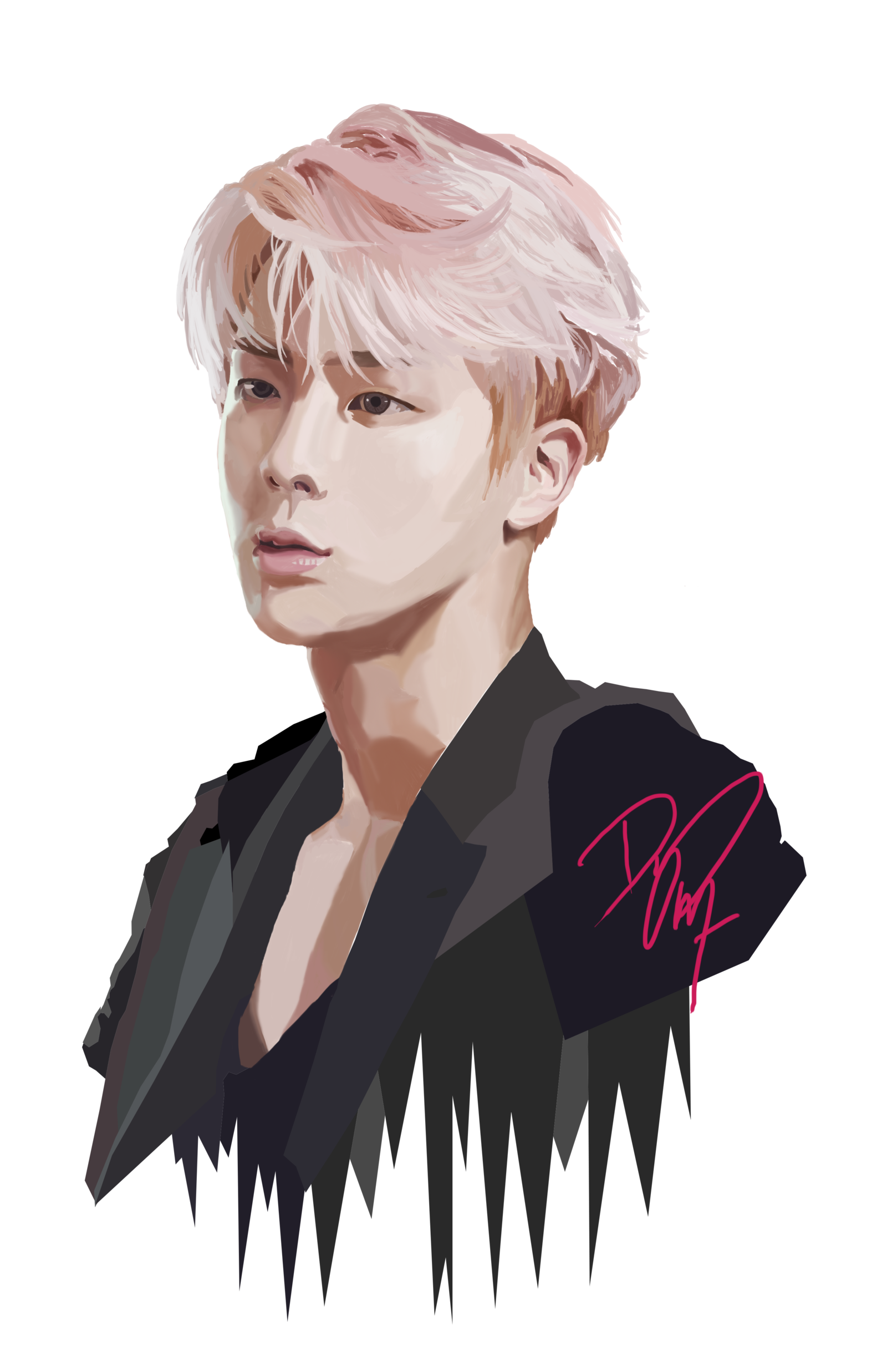 Drawing bts transparent. Jin i want to