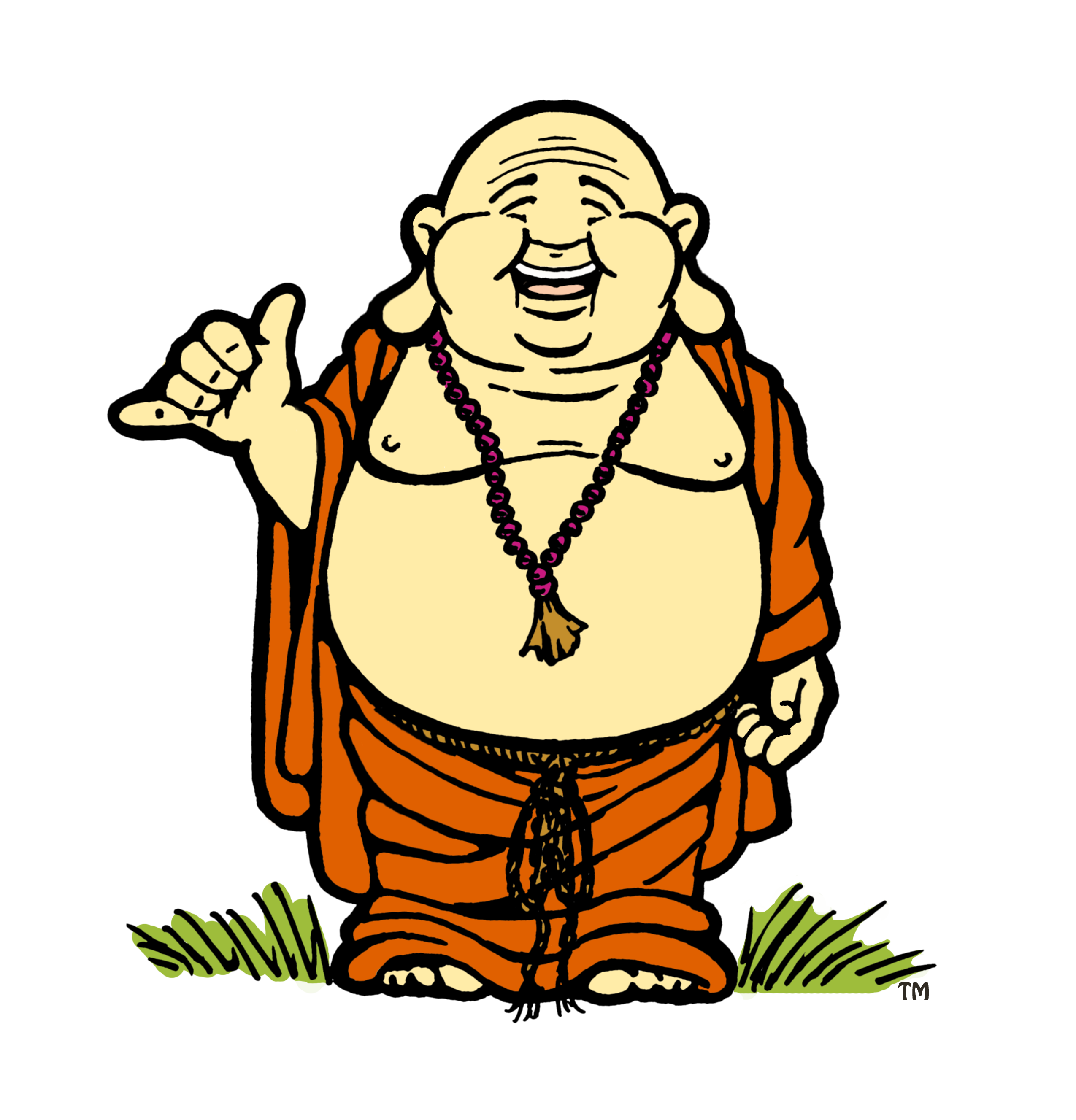 Drawing buddha cartoon. Collection of high
