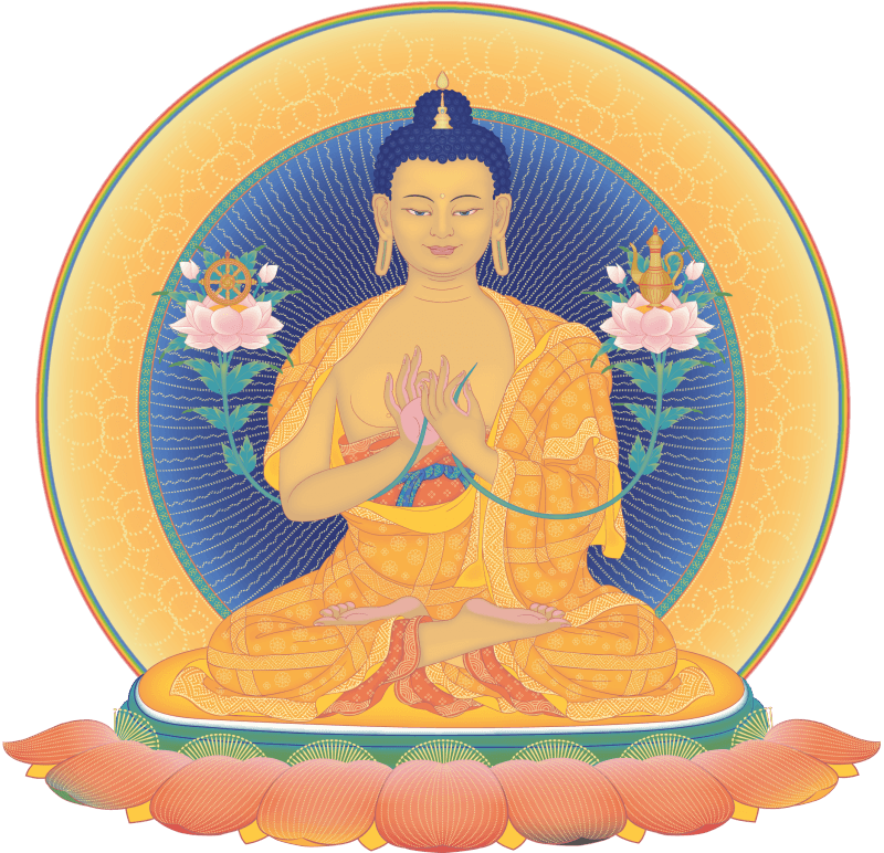 Drawing buddha colourful. Buddhism transparent png images