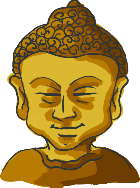 Drawing buddha golden. Gautama buddhism avukana statue