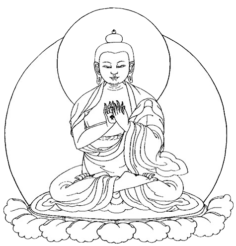 drawing buddha lying
