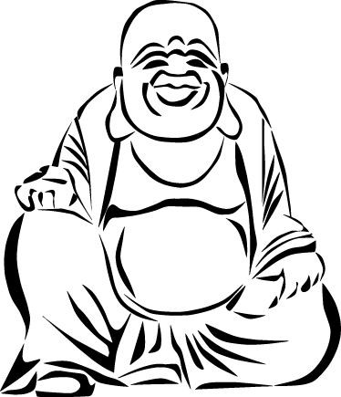 Buddha wall sticker tenstickers. Durga drawing easy jpg black and white stock