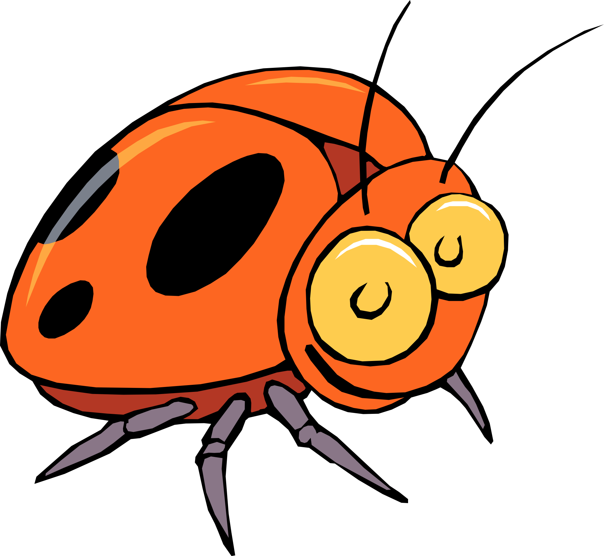 Drawing bugs kid. Insect clipart for kids