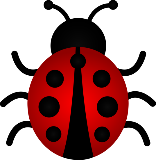 Drawing ladybug lady beetle. Red clip art silhouettes