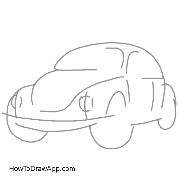Volkswagon drawing. How to draw a