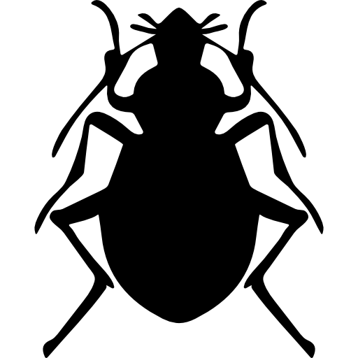 Vector bug beatle. Stink insect shape icons