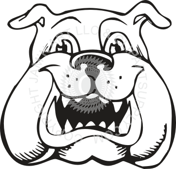 Drawing bulldogs clip art. Bulldog clipart comic cute
