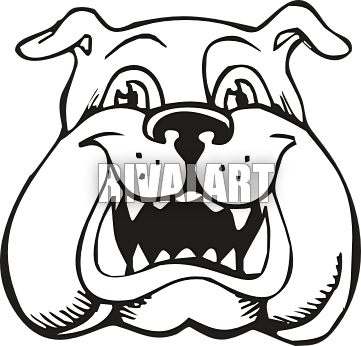 Drawing bulldogs outline. Bulldog head silhouette at