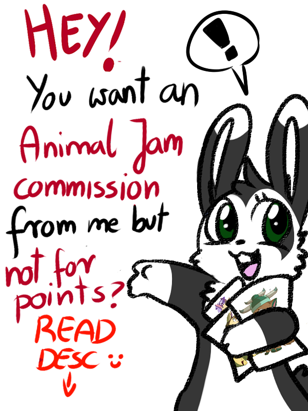 Drawing bunnies animal jam. Item commissions on hold