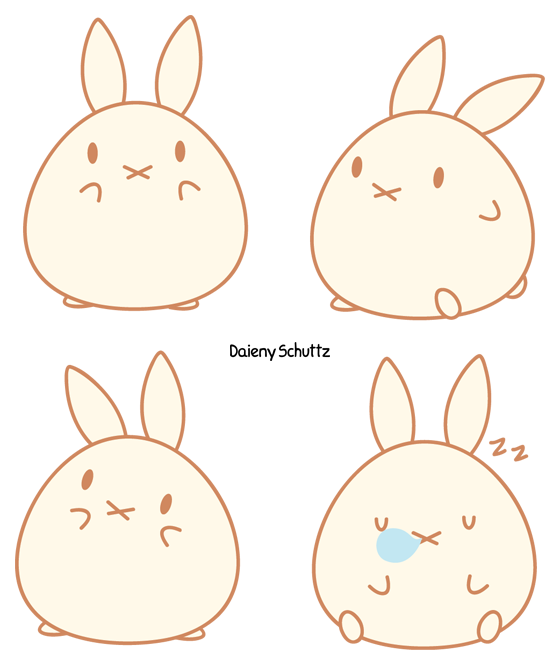 Drawing bunnies chibi. Bunny by daieny deviantart