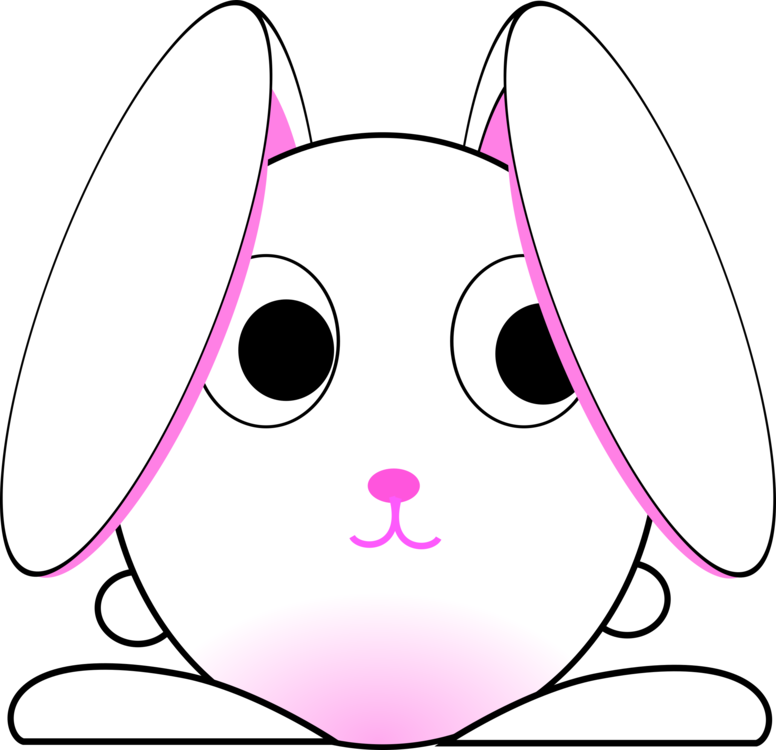 Zodiac drawing bunny. Domestic rabbit easter hare