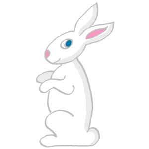 Rabbits drawing side view. Free bunny clipart and