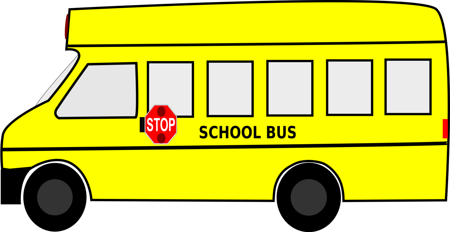 Drawing bus. School traffic stop laws