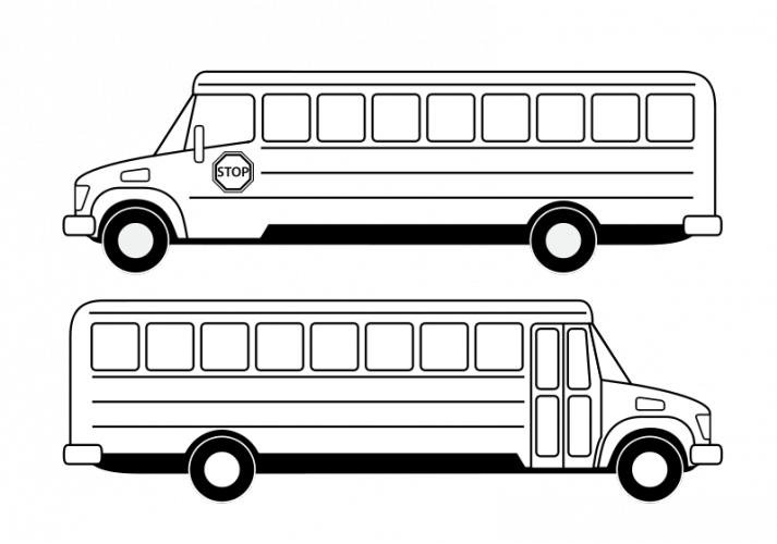 Drawing buses. Collection of free bussed