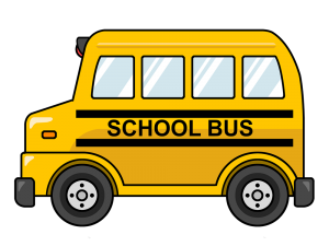 Drawing buses. School bus project ideas